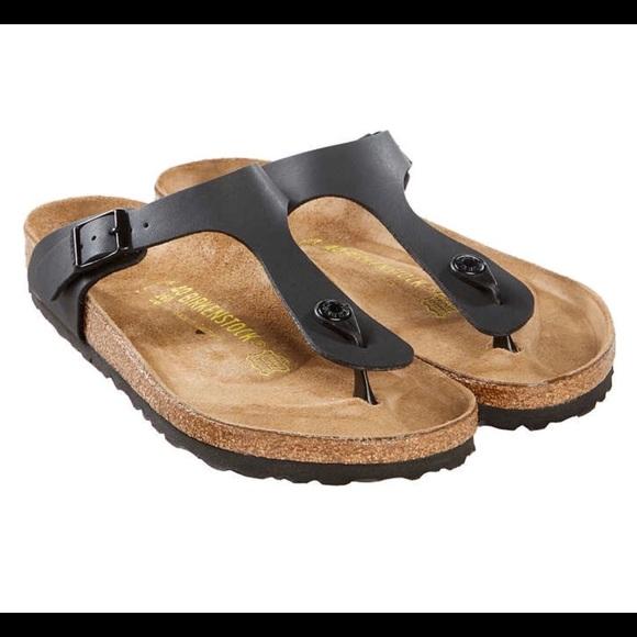 Birkenstock® Ladies' Gizeh Birko Flor™ Sandal, Blk NWT
